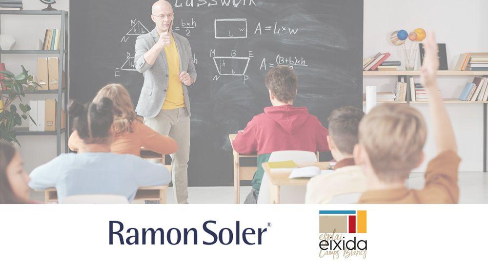 Ramon Soler y EIXIDA. Campaña de recogida de material escolar, gel hidroalcohólico y mascarillas