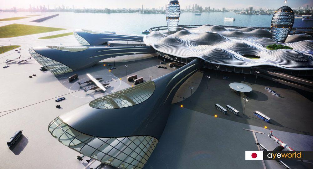 Centro de Transporte SPACEPORT CITY: arquitectura hacia el futuro