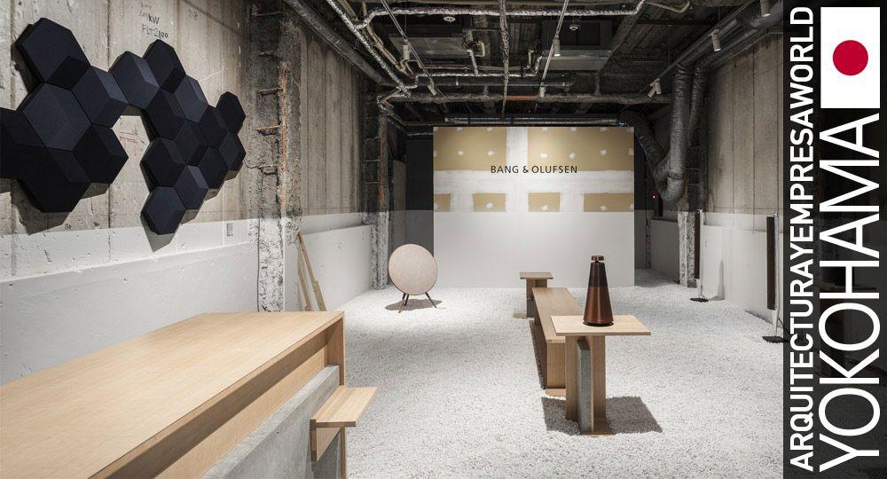 Espacios efímeros de Yusuke Seki. Tienda pop-up Bang & Olufsen en Kioto