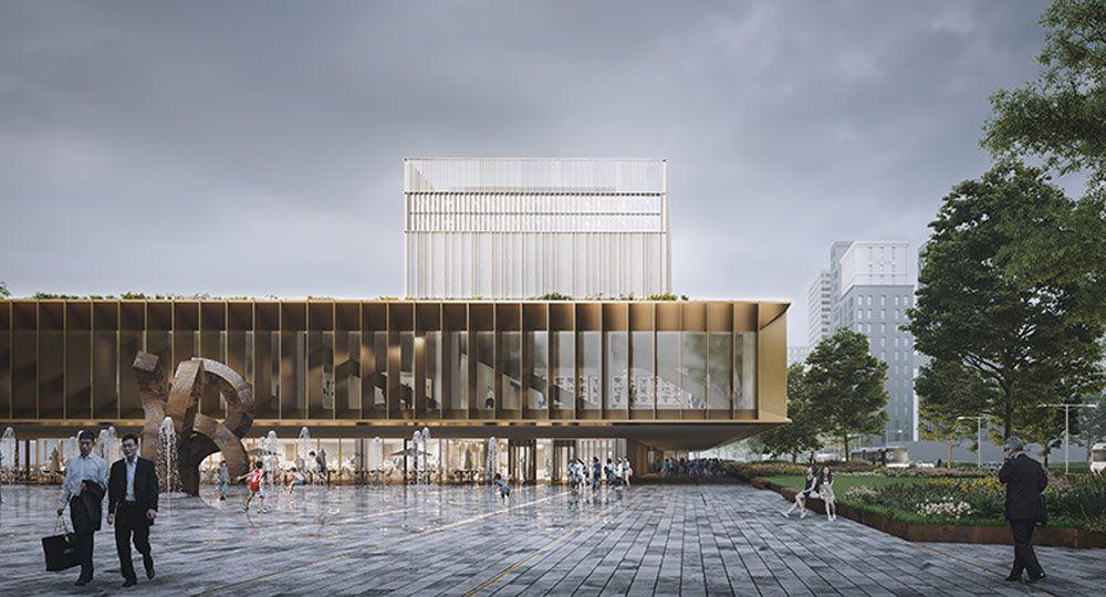 Nuevo Archivo Nacional de Taiwán. Mecanoo Architects