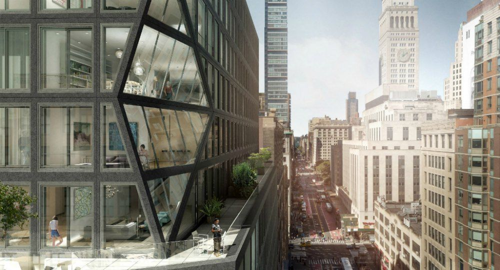 121 E 22ND. Torre residencial de OMA Arquitectos