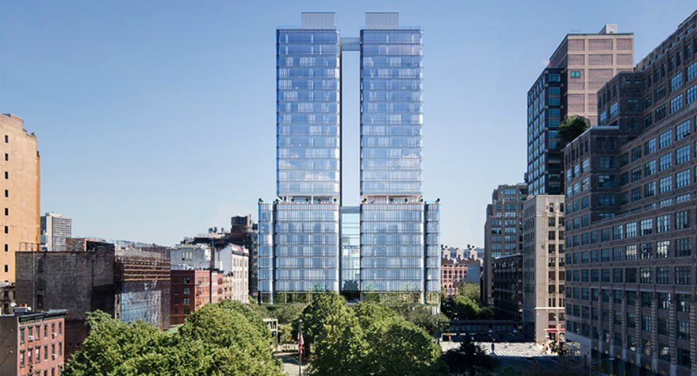 565 Broome Soho Tower. Estudio de arquitectura Renzo Piano