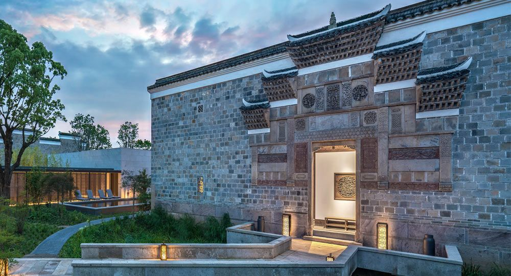 Hotel Amanyangyun por Kerry Hill Architects. Arquitectura fusión