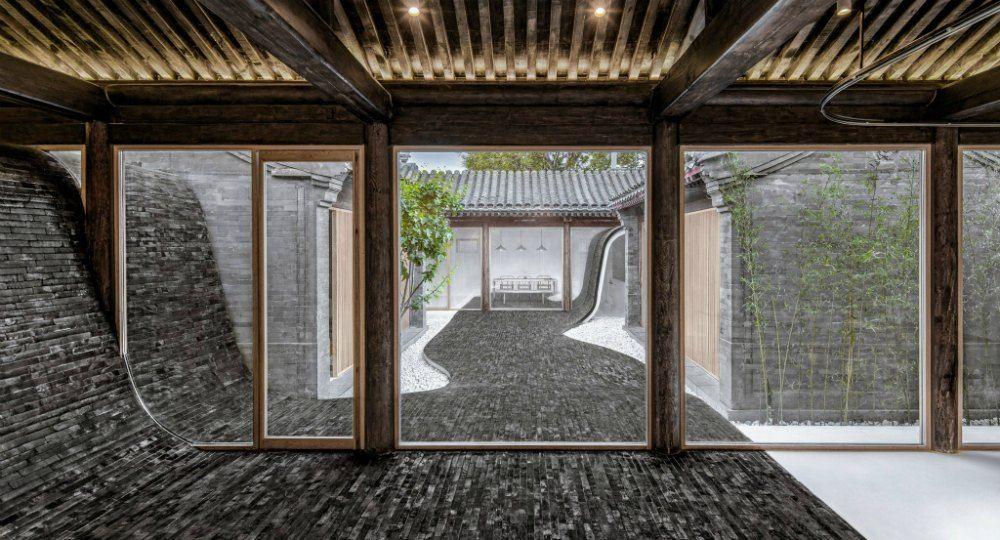 Casa con patio Twisting Courtyard. Estudio de arquitectura Arch Studio