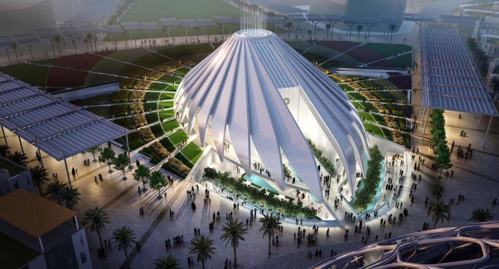 Pabellón de Emiratos Árabes Unidos, Expo de Dubái 2020. Arquitecto Santiago Calatrava