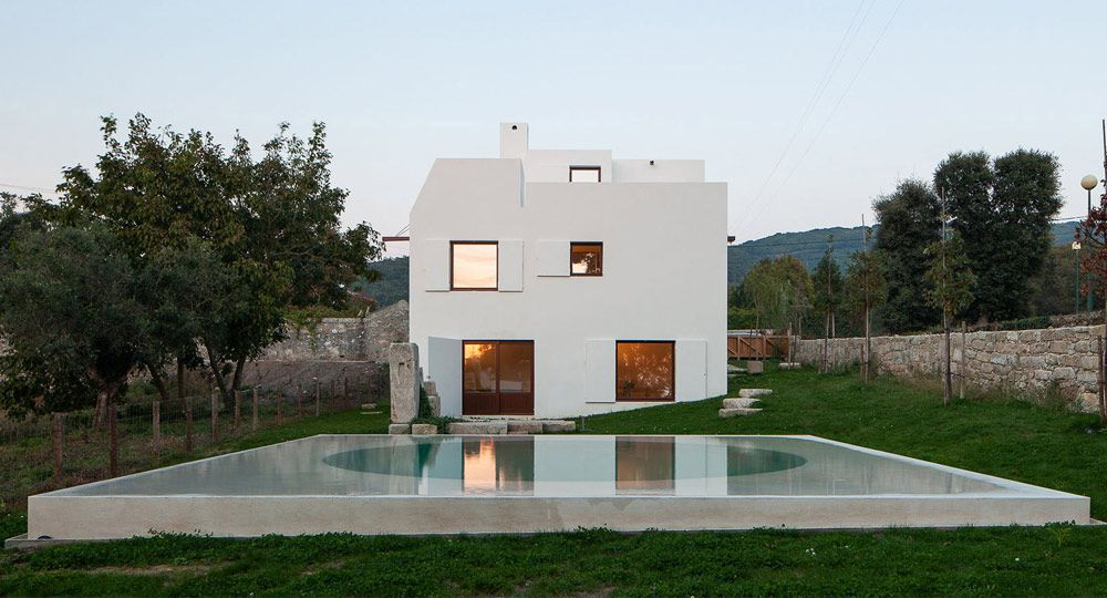 La casa blanca de Afife. Arquitecto Guilherme Machado Vaz