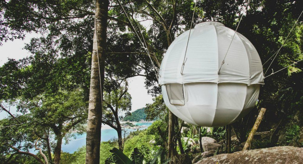 Cocoon Tree. Arquitectura colgante, arquitectura sin huella ambiental