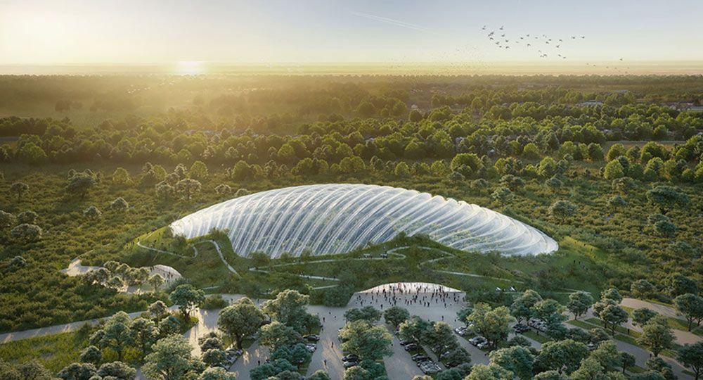 El mayor invernadero tropical del mundo. Proyecto Tropicalia de CAAU Arquitectura