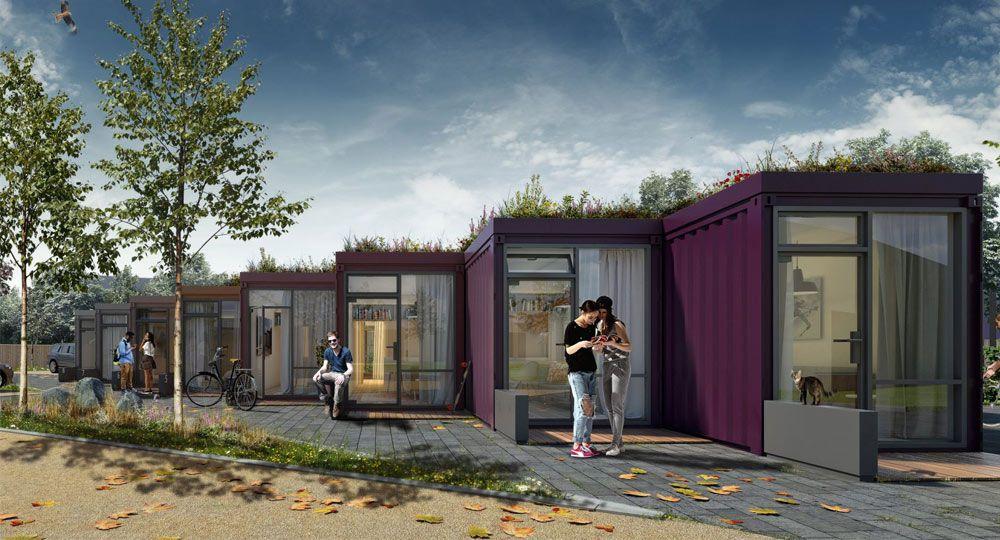 Fraser Brown MacKenna Architects. Micro -viviendas container en Inglaterra