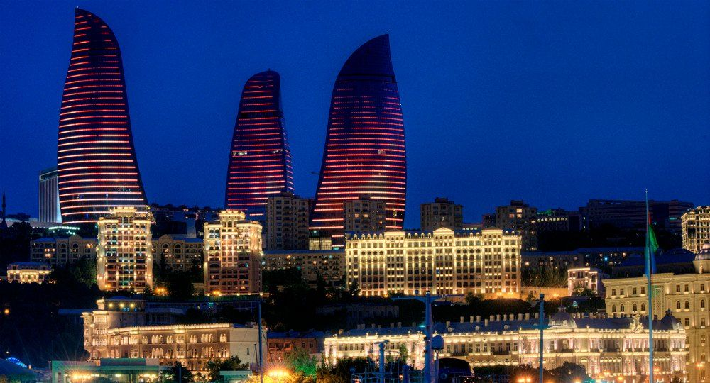 Flame Towers en Baku. HOK Architects