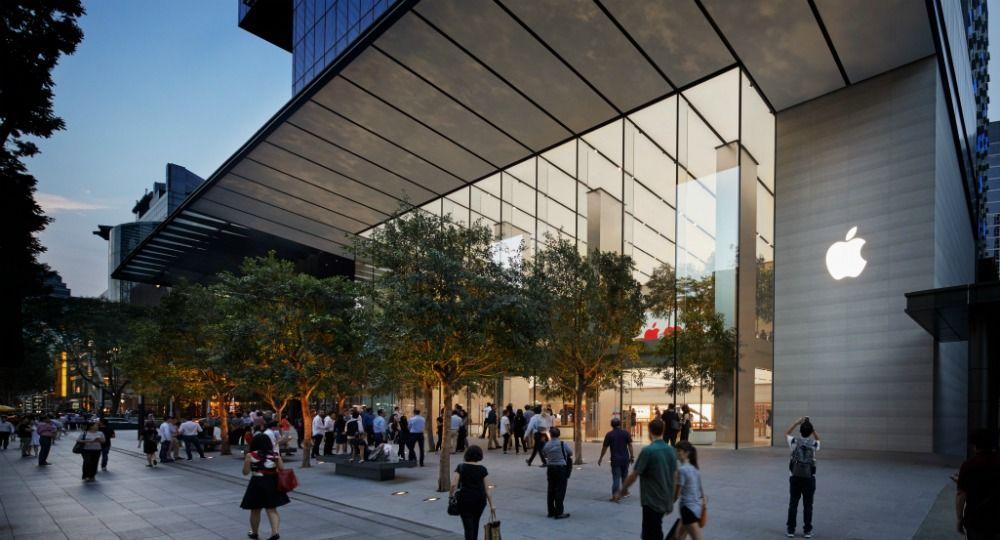 Foster + Partners  Arquitectos. Apple Orchard Road, tienda verde en Singapur