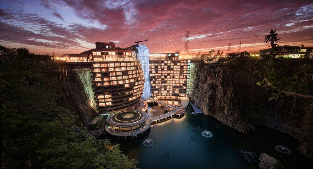 Hotel Shimao Wonderland Intercontinental. Jade + QA diseña un hotel en una cantera