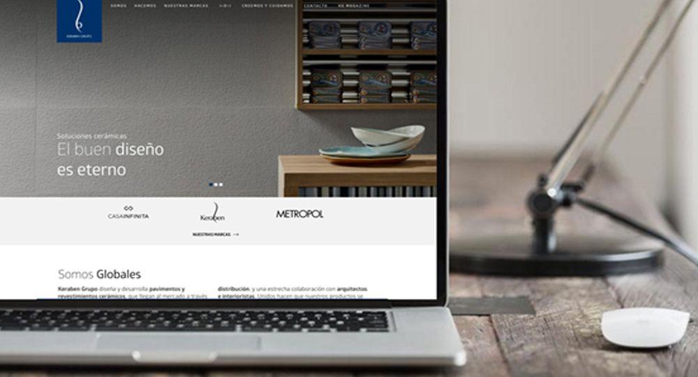 Keraben Grupo refuerza su presencia online con una renovada web