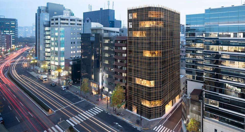Torre de oficinas en Tokio. Arquitectura verde de Nendo