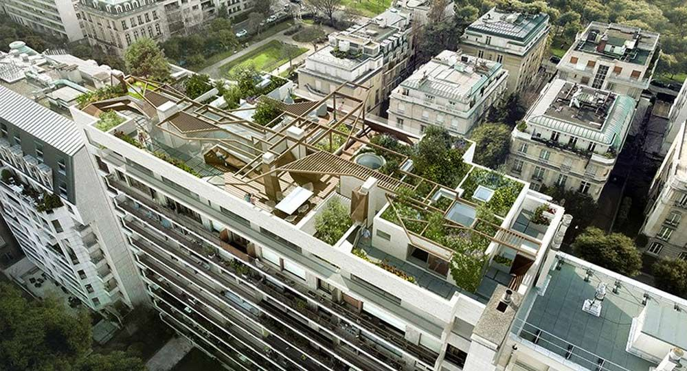 La Forêt Urbaine de Matteo Cainer Architects. Ático de lujo en el centro de París