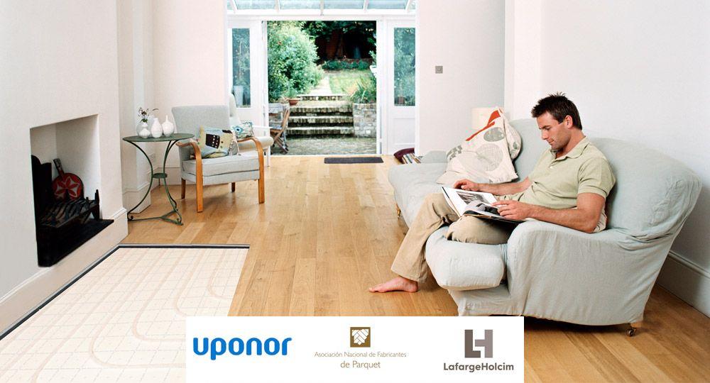 Suelo radiante en pavimentos de madera. Colaboración de grandes empresas: LafargeHolcim, Uponor y ANFP