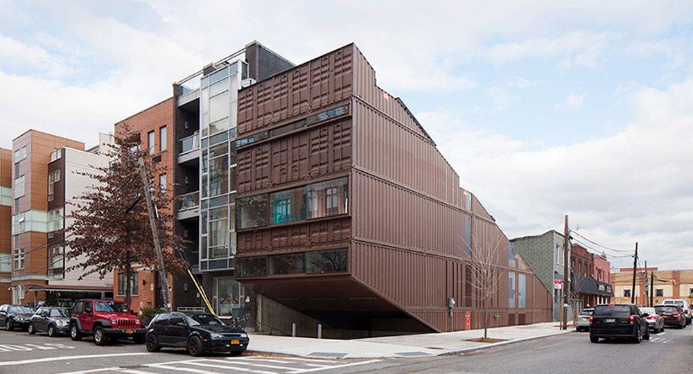 Arquitectura reciclada. Proyecto Carroll House de LOT-EK