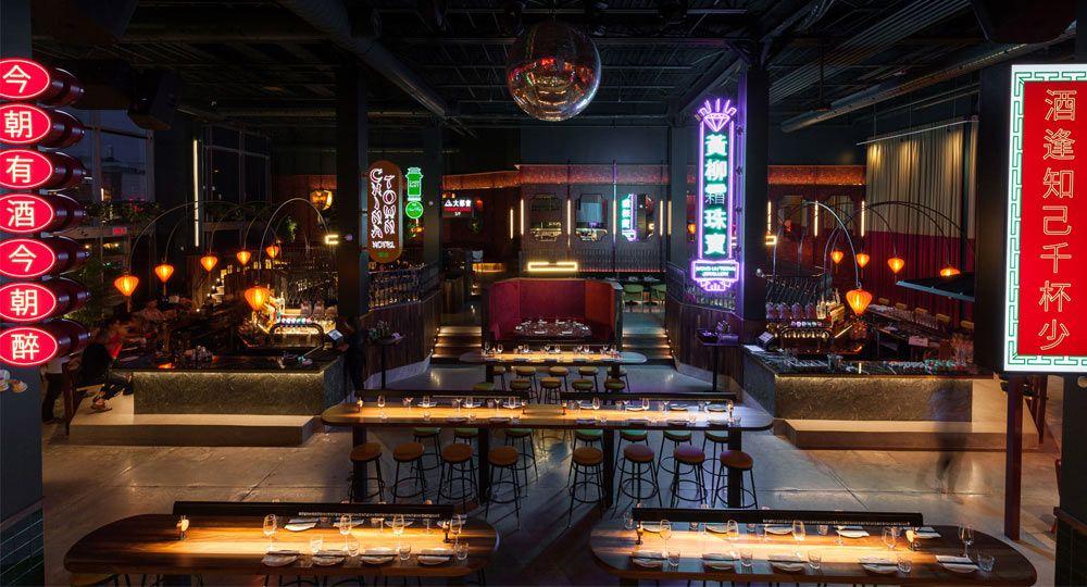 Diseño interior de inspiración oriental. Restaurante Miss Wong de Ménard Dworkind