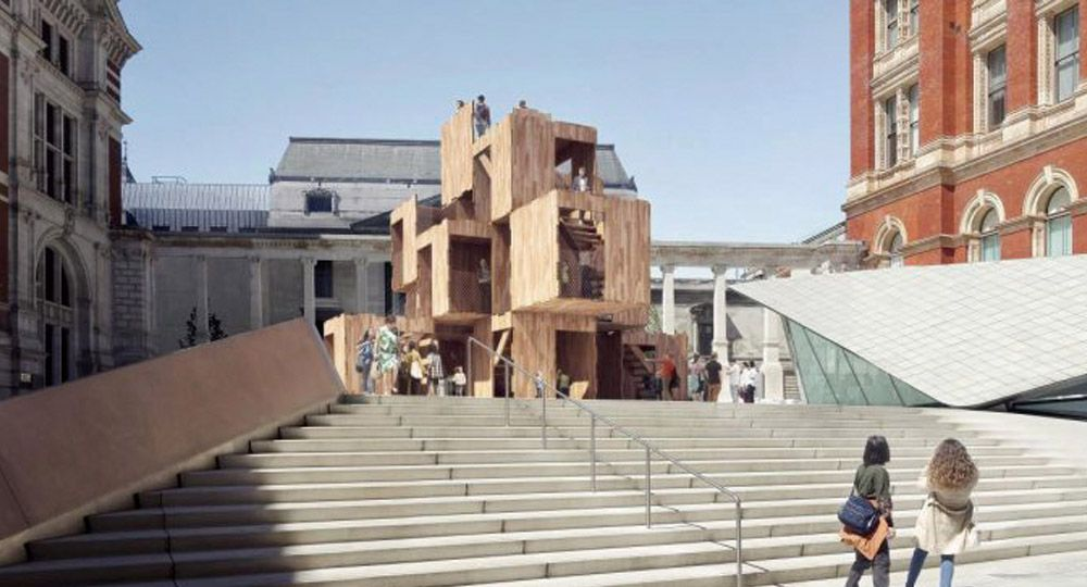Multiply en el festival de diseño de Londres. Arquitectura modular con madera