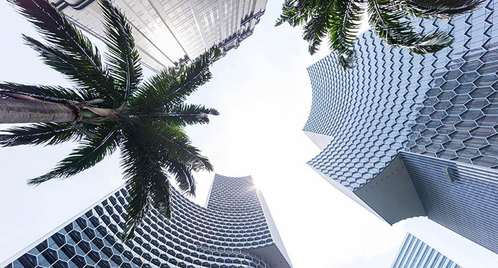 Ole Scheeren, estudio de arquitectura. Torres DUO en Singapur