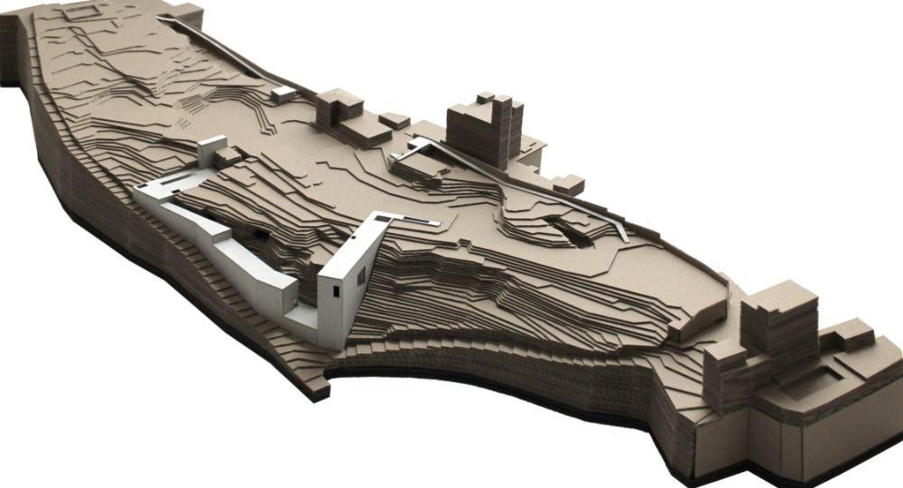 Centro Arqueológico en la Alhambra. 1º Premio del II Concurso PFC Arquitectura y Empresa