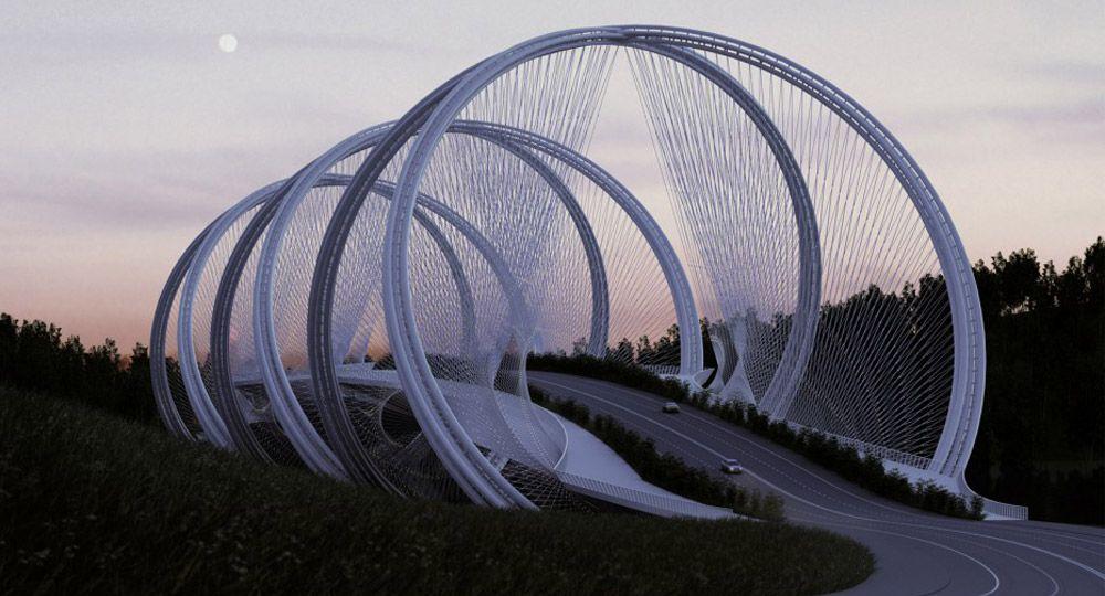 Puente San Shan en Pekín, JJOO de invierno 2022. Penda Architects