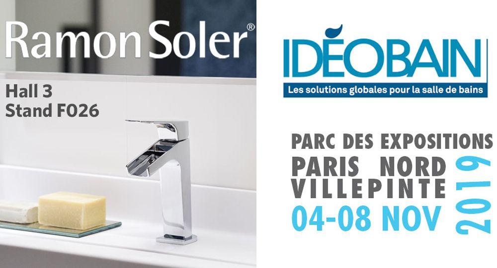 Ramon Soler® expone en IdéoBain 2019: Feria del interiorismo y baño