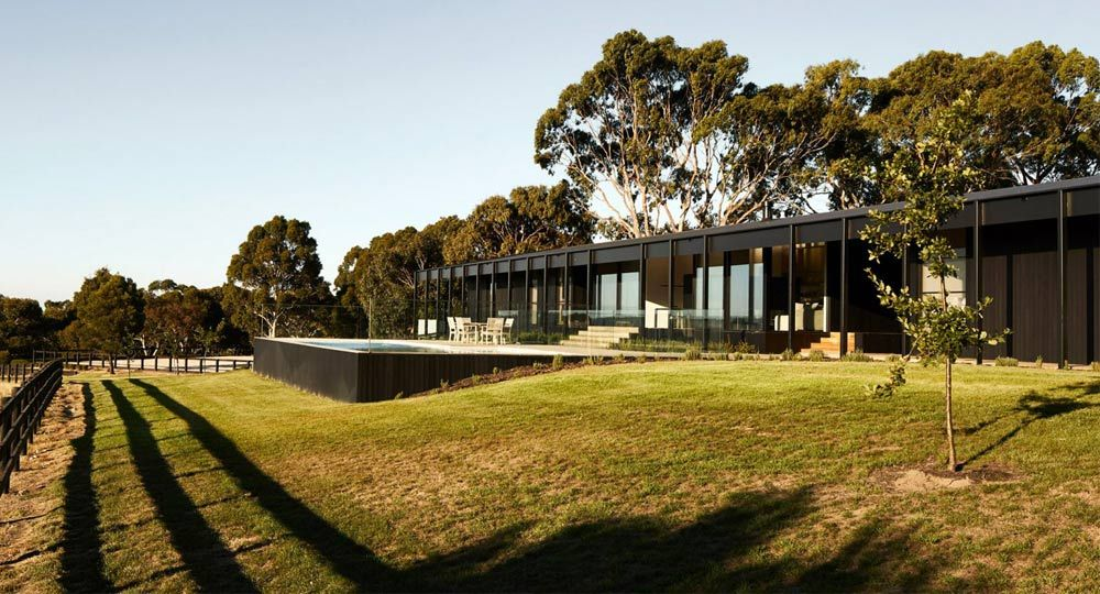 Arquitectura rural. Proyecto Red Hill Farm House de Carr Arquitectos