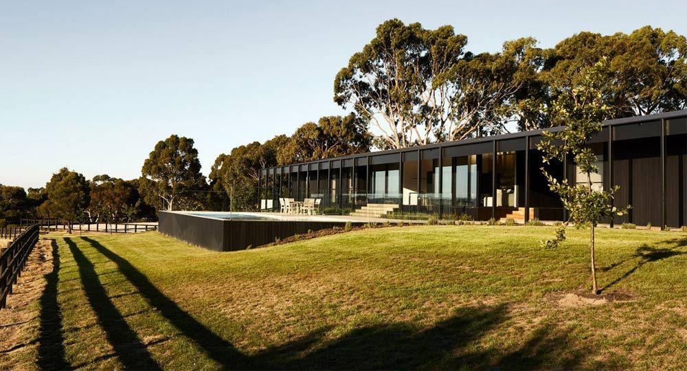 Arquitectura rural. Proyecto Red Hill Farm House de Carr Arquitectos