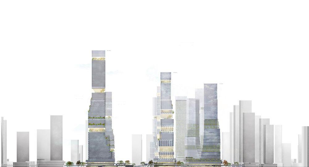 Nuevo distrito de negocios en Shenzhen. Mecanoo Arquitectos