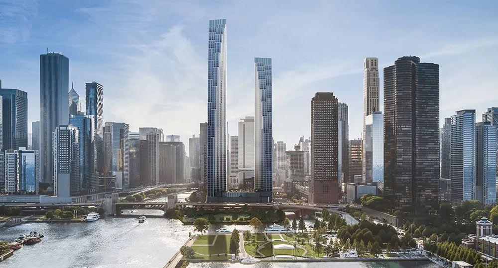 Dueto de torres en Chicago. Proyecto 400 Lake Shore Drive de SOM Architects