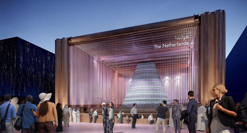 Pabellón holandés, espacio  microclimático. Expo 2020 Dubai