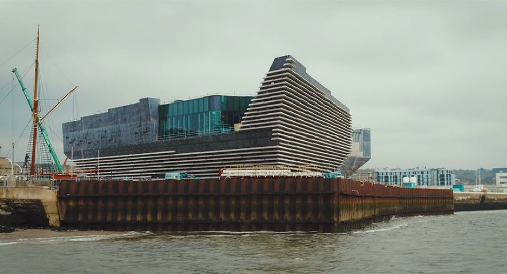 Museo de Diseño V&A Dundee. Arquitecto Kengo Kuma