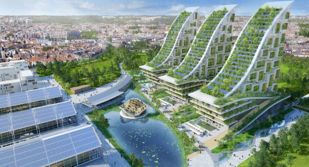 Vincent Callebaut Architectures. Barrio ecológico en Bruselas