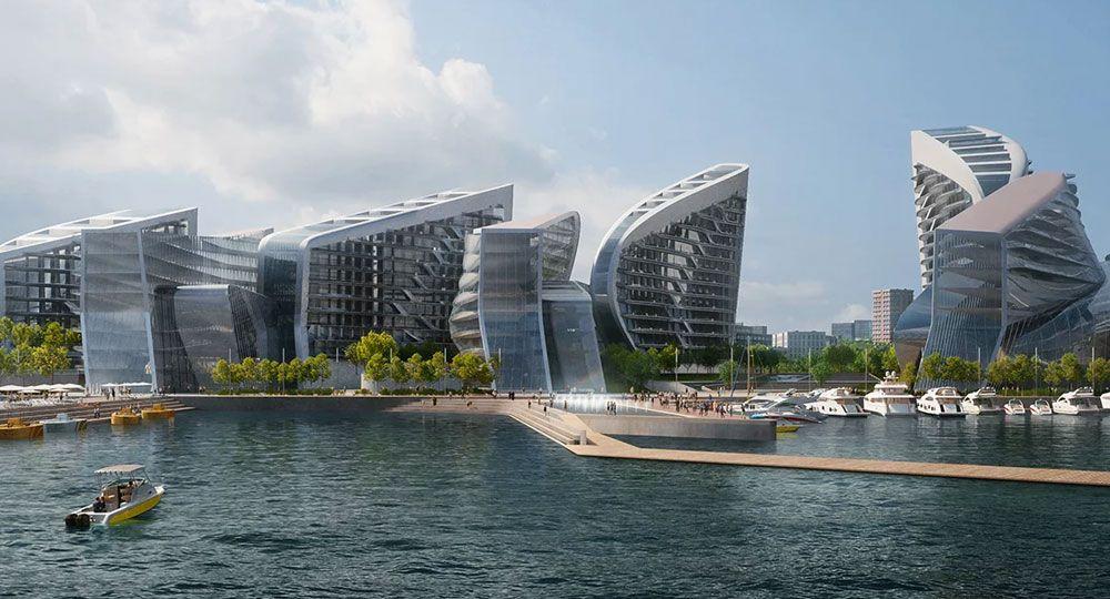 Zaha Hadid Architects. Proyecto Novorossiysk, arquitectura en la costa rusa