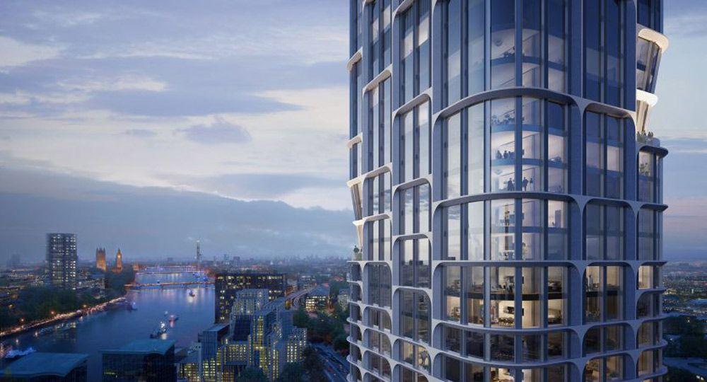 Proyecto aprobado de las Torres Vauxhall Cross Island. Zaha Hadid Architects