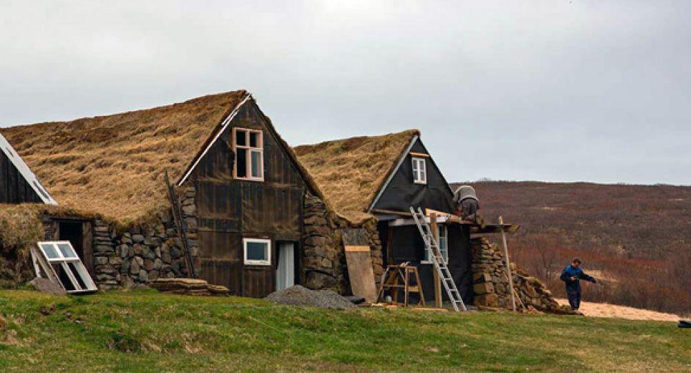 Casas césped de Islandia, las primeras cubiertas verdes
