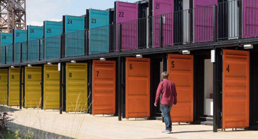 Un contenedor de oficinas, Containerville Londres