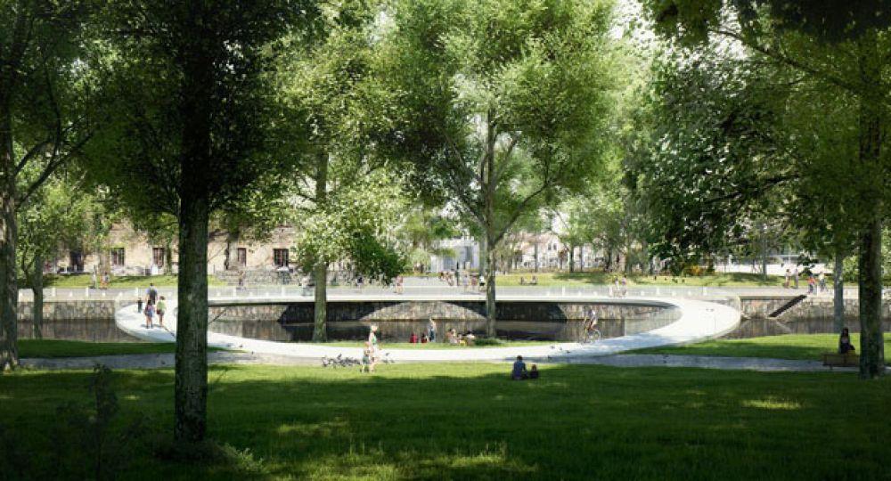 Arkitektbron, un puente construido con fibra de carbono