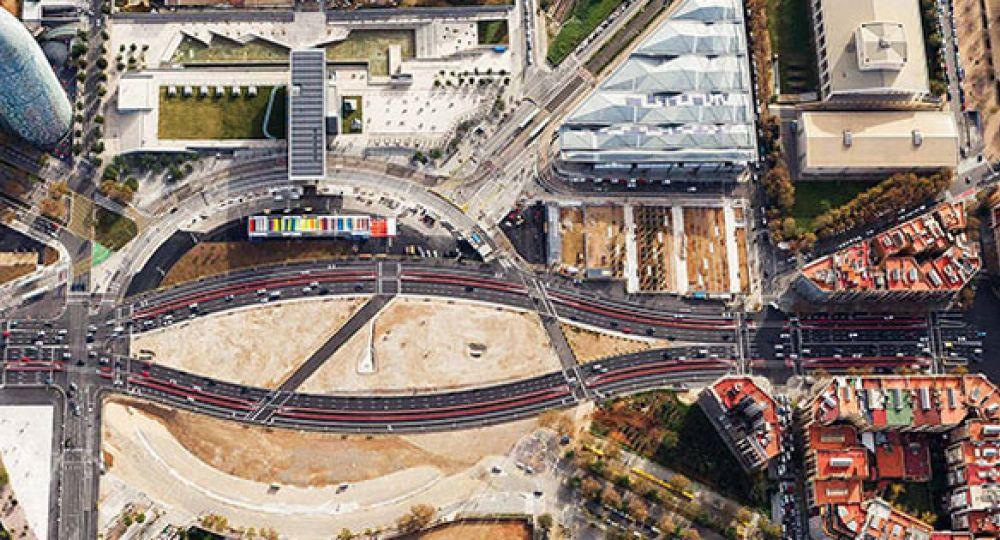 Inaguración del parque provisional de Glòries de Barcelona