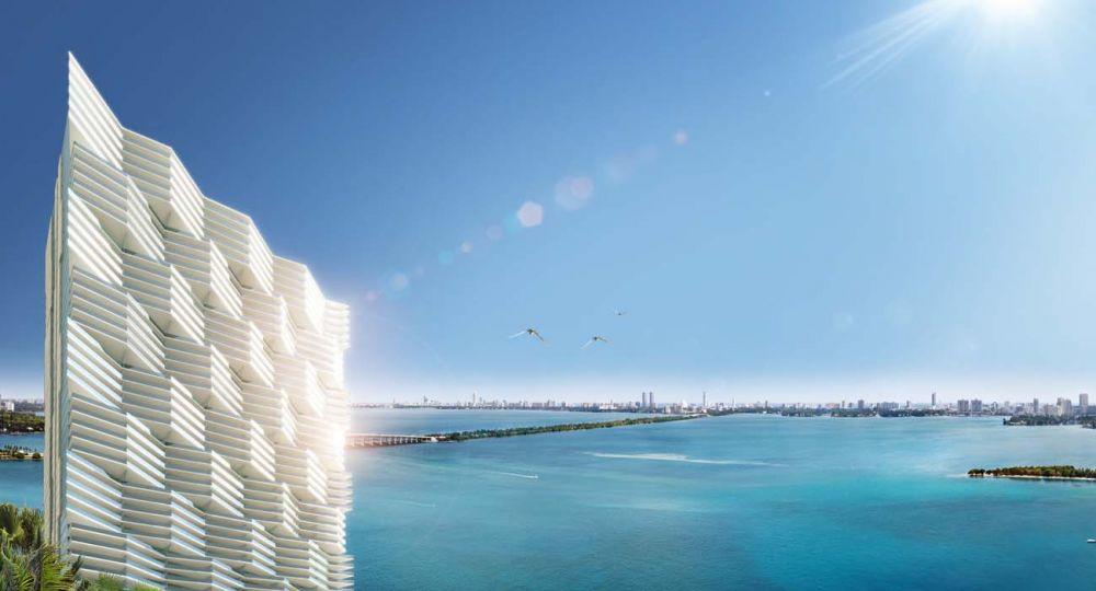 Arquitectonica plantea proporciones monumentales en la Bahía de Biscayne, Miami, Florida