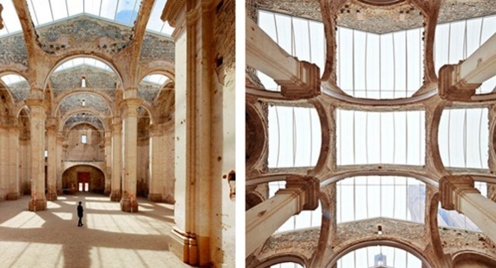 Cubierta transparente en la Iglesia de Corbera d'Ebre
