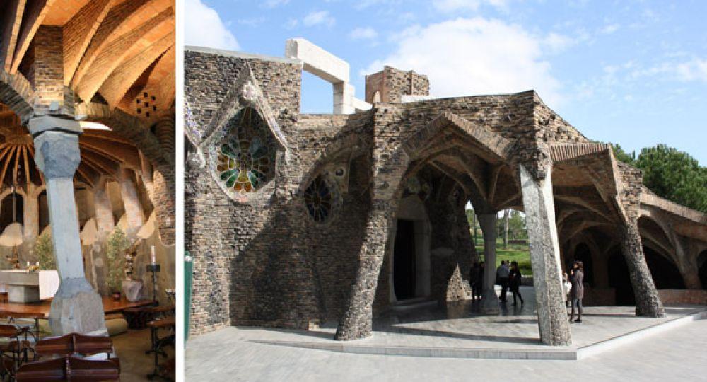 Cripta Güell, restauración de una Iglesia inacabada