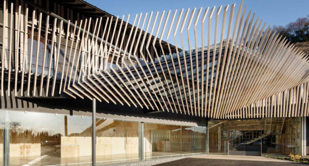 Madera entrelazada kengo kuma arquitectura - Arquitectura en madera ...