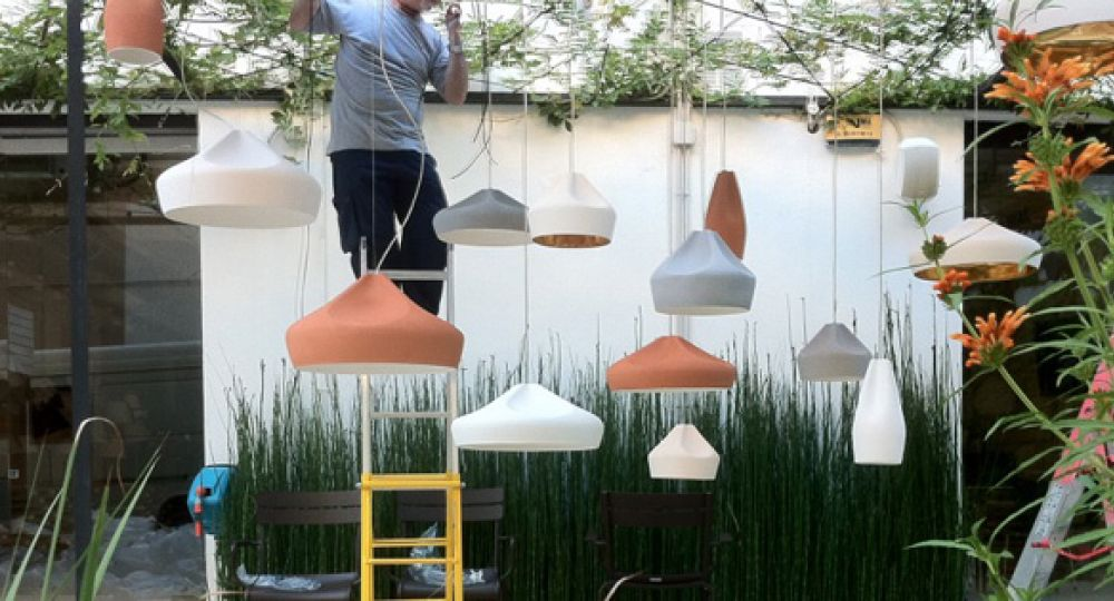 Lámparas cerámicas, ilusión y brillo.