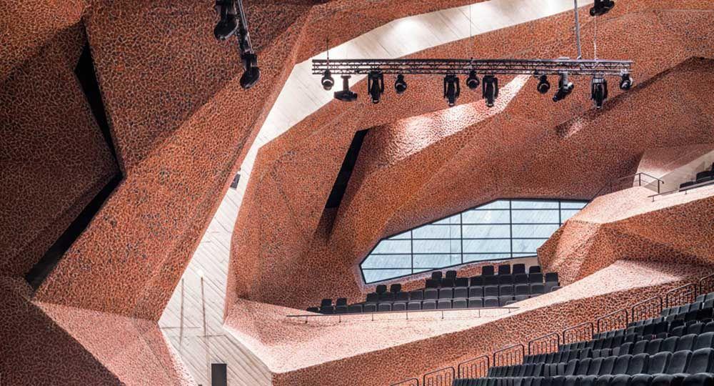 Auditorio CKK Jordanki, arquitecto Fernando Menis