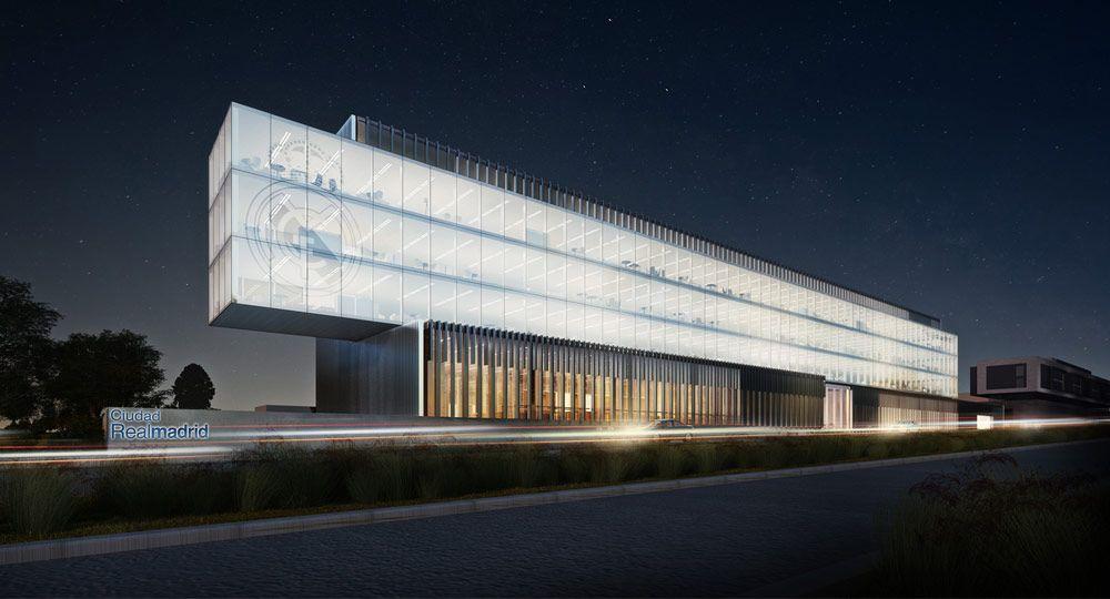 Rafael de La-Hoz proyecto el nuevo edificio de oficinas corporativas para el Real Madrid
