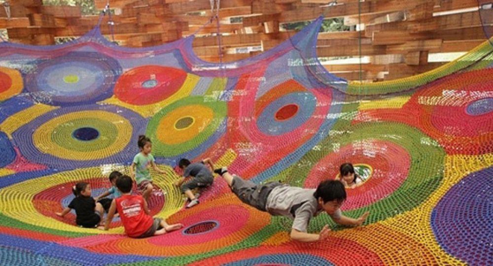 Parques infantiles: arte textil lúdico