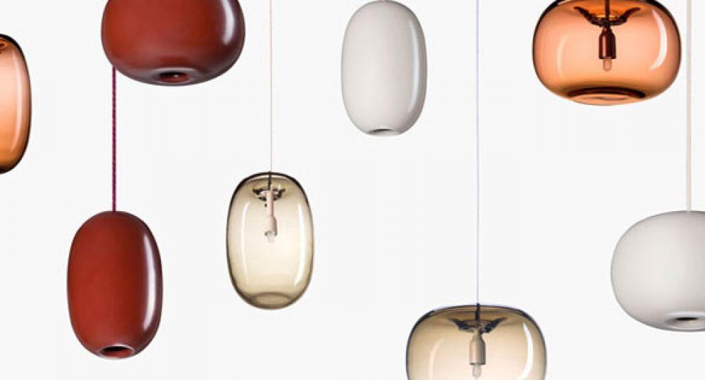 Lámparas con forma de guijarro