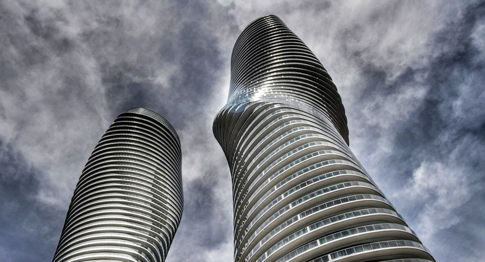 Torres Absolute en Mississagua, Canadá. MAD Architects.